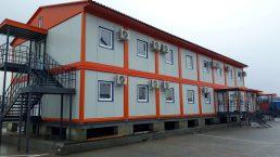 Модульное двухэтажное здание фасад